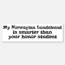 Honor Student: My Norwegian L Bumper Bumper Bumper Sticker