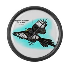 Yellow-Billed Magpie Large Wall Clock