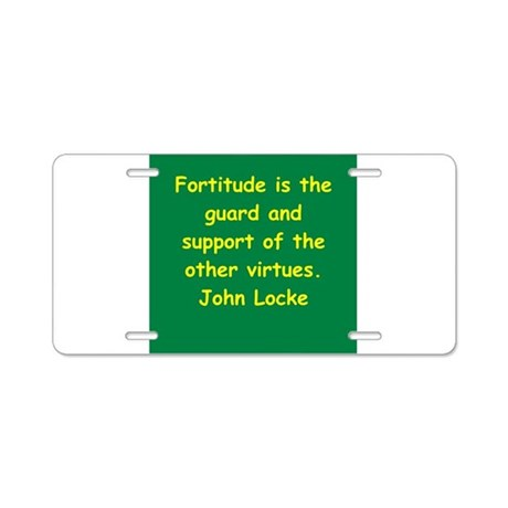 john locke Aluminum License Plate