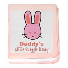 Daddy's Snuggle Bunny (girl) baby blanket