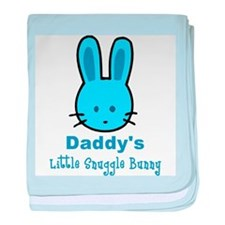 Daddy's Little Snuggle Bunny baby blanket