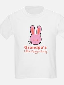 Grandpa's Snuggle Bunny Girls T-Shirt