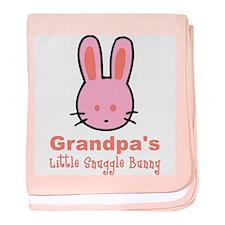 Grandpa's Snuggle Bunny Girl baby blanket