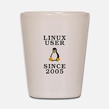 Linux user since 2005 - Shot Glass
