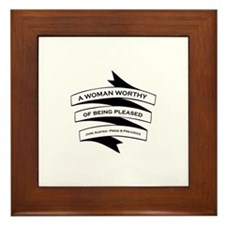 Jane Austen Gift Framed Tile