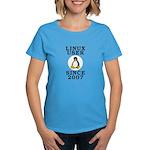 Linux user since 2007 - Women's Dark T-Shirt