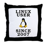Linux user since 2007 - Throw Pillow