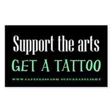 """Support Arts Tattoo"" Decal"
