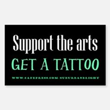 """""""Support Arts Tattoo"""" Decal"""