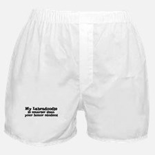 Honor Student: My Labradoodle Boxer Shorts