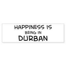 Happiness is Durban Bumper Bumper Sticker