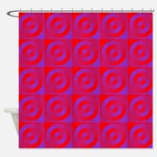 Circles in Squares Shower Curtain