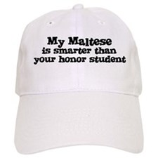 Honor Student: My Maltese Baseball Cap