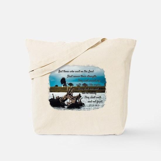Eagle Isaiah 40:31 Tote Bag