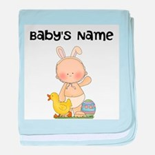 Personalized Baby Boy Easter baby blanket