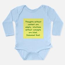 immanuel kant Long Sleeve Infant Bodysuit