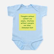 immanuel kant Infant Bodysuit
