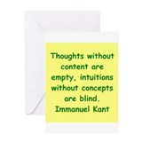 Immanuel kant Greeting Cards