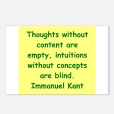 immanuel kant Postcards (Package of 8)