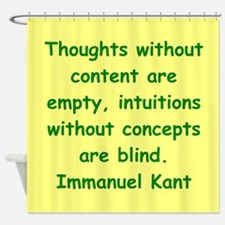 immanuel kant Shower Curtain