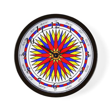 Mariner's Sunrise Compass Rose Wall Clock