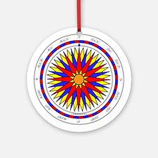 Mariner's Sunrise Compass Rose Ornament (Round)