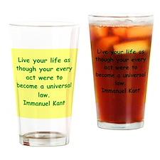 immanuel kant Drinking Glass