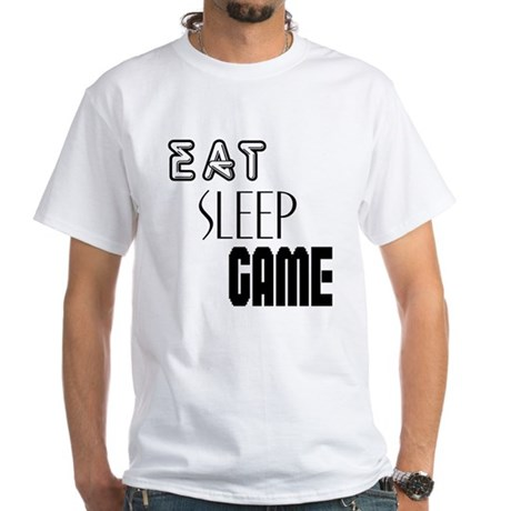 Eat Sleep Game White T-Shirt