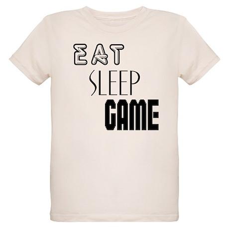 Eat Sleep Game Organic Kids T-Shirt