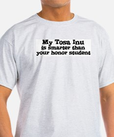 Honor Student: My Tosa Inu Ash Grey T-Shirt