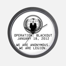 Operation Blackout Wall Clock
