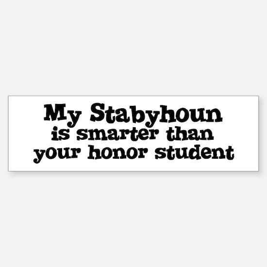 Honor Student: My Stabyhoun Bumper Bumper Bumper Sticker