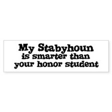 Honor Student: My Stabyhoun Bumper Bumper Sticker