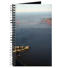 Aerial Golden Gate Bridge, Alcatraz Journal Gifts