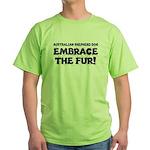 Australian Shepherd Dog Green T-Shirt