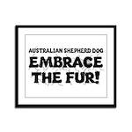 Australian Shepherd Dog Framed Panel Print