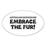 Australian Shepherd Dog Sticker (Oval 10 pk)