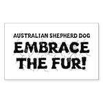 Australian Shepherd Dog Sticker (Rectangle 10 pk)