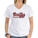 Gambling Girl Women's V-Neck T-Shirt