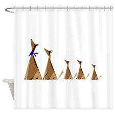 Coyote Family Shower Curtain