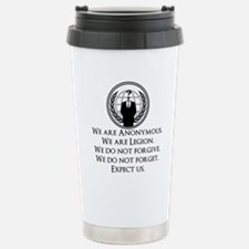 We are Anonymous Stainless Steel Travel Mug