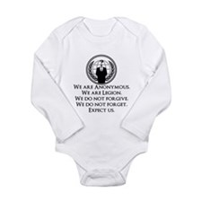 We are Anonymous Long Sleeve Infant Bodysuit