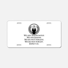 We are Anonymous Aluminum License Plate