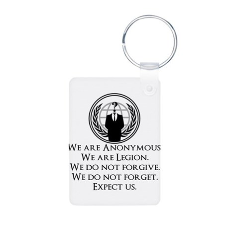We are Anonymous Aluminum Photo Keychain