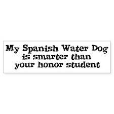 Honor Student: My Spanish Wat Bumper Bumper Sticker