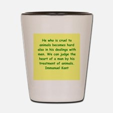 immanuel kant Shot Glass