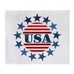 USA! Throw Blanket