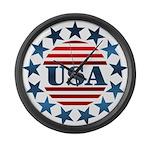 USA! Large Wall Clock