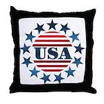 USA! Throw Pillow