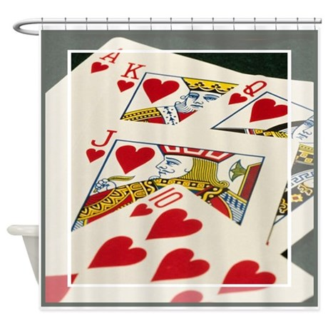 Royal Flush Shower Curtain